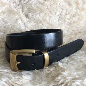 The Limited Accessories - Limited black matte gold basic plain belt jeans SM
